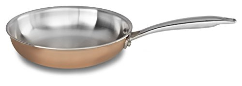 "KitchenAid KCP08SKCP Tri-Ply Copper 8"" Skillet Cookware - Satin Copper"