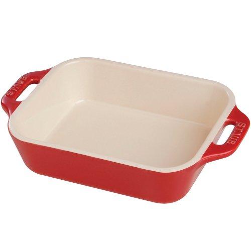 Staub Ceramic 5.5-inch x 4-inch Rectangular Baking Dish – Cherry