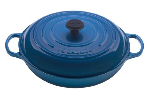 Le Creuset Signature Enameled Cast-Iron 5-Quart Round Braiser, Marseille