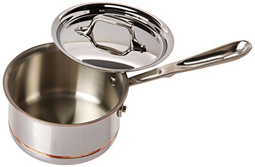 All-Clad 6201.5 SS Copper Core 5-Ply Bonded Dishwasher Safe Saucepan/Cookware, 1.5-Quart, Silver