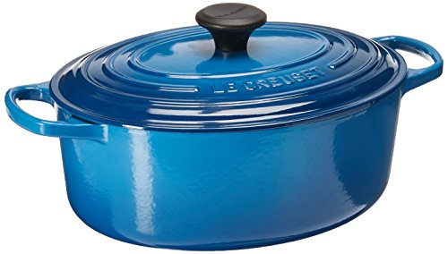Le Creuset Signature Enameled Cast-Iron 5-Quart Oval French (Dutch) Oven, Marseille