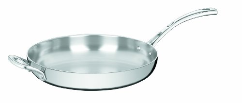 Cuisinart FCT22-30HF French Classic Tri-Ply Stainless 12-Inch French Skillet with Helper Handle