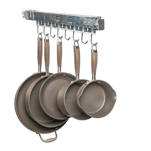 Good Cushion Pull Out Cabinet Pot & Pan Organizer, Holds A Complete Set Including Lids, USA Patented, Solid Steel with Soft Close Slide