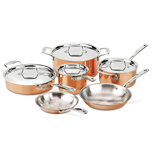 All-Clad Copper C40010 C4 10 Piece Cookware Set