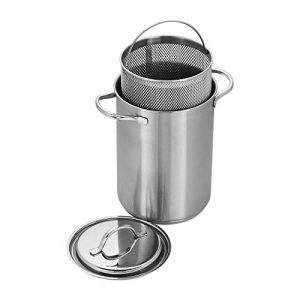 Demeyere 8016 RESTO Stainless Steel Asparagus/Pasta Cooker Set, 4.7-Quart, Silver