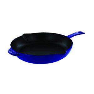 """Staub Fry Pan, Dark Blue, 10"""""""