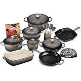Le Creuset 20-piece Signature Cast Iron Cookware Set (Oyster)