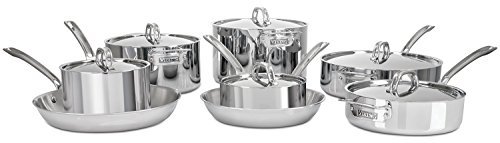 Viking 3-Ply Stainless Steel Cookware Set, 14 Piece