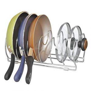 "iDesign Classico Kitchen Cabinet Storage Organizer for Skillets, Pans -13"", Chrome"