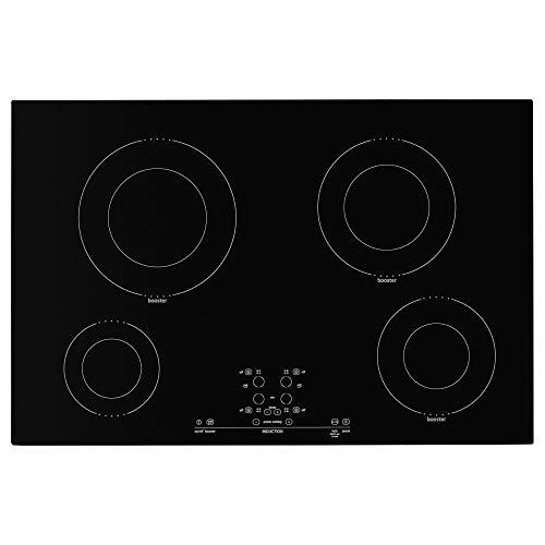 IKEA 501.826.20 Nutid 4 Element Induction Cooktop, Black