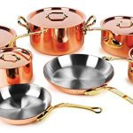 Mauviel M'heritage 250B 12 Piece 2.5mm Copper Cookware Set