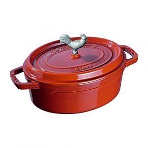 """Staub Ceramic 5.5"""" x 4"""" Rectangular Baking Dish - Cherry"""