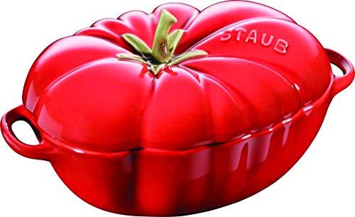 Staub 405118550 Tomato Casserole 40511-855-0 Enamelled Surface Ceramic