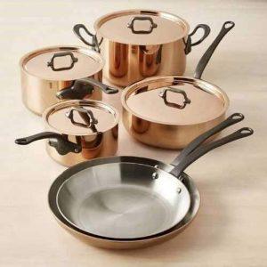 Mauviel M250C Copper 10-Piece Cookware Set