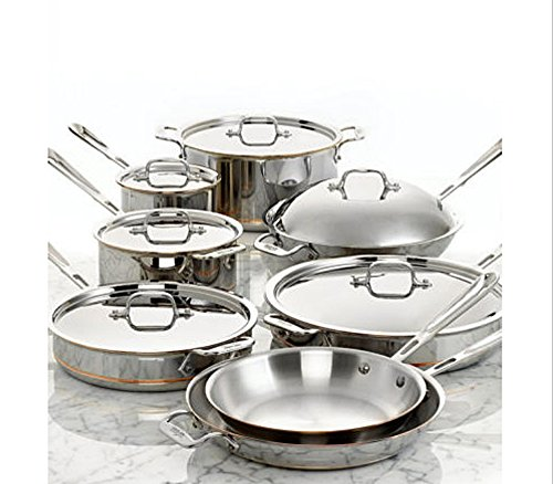 banchasawad Copper Core 5-Ply Bonded Dishwasher Safe Cookware Set, 14-Piece