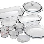 Anchor Hocking Oven Basics Glass Baking Dishes, Mixed, 15-piece
