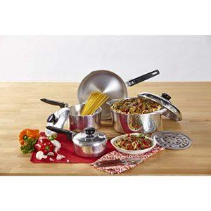 IMUSA USA Heavy Duty 8-Piece Cast Aluminum Cajun Cookware Set, Silver